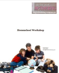Homeschool Workshop Handout